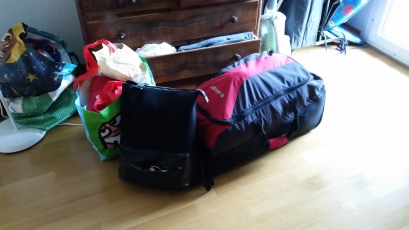 Gepackte Taschen in Bern