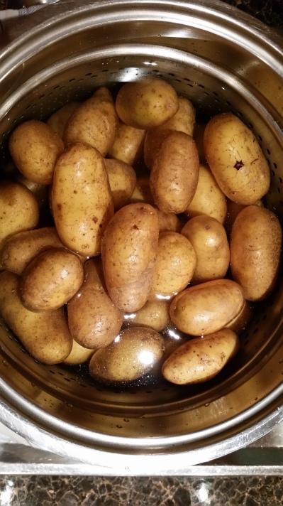 Geschwellte Kartoffeln.